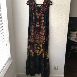 Free People Patterned Cut-out Maxi